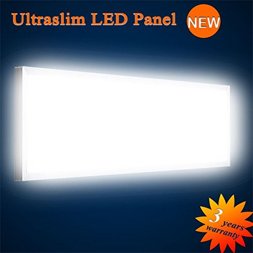 Mextronic LED Panel Deckenpanel Wandpanel Ultraslim LED Panel Neutralweiß 6000LM 75W 120x30CM dimmbar