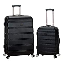 "Carry-on Upright: 22""x 13""x 9"" (with wheels) 28-inch Upright: 28""x17""x12"" Lightweight yet extremely durable ABS material Multi-directional double spinner wheels Sturdy ergonomic chrome telescoping handle Expandable"