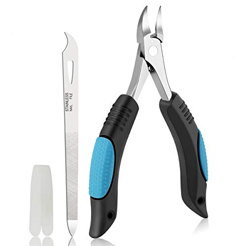 Nail Clippers Toenail Clippers for Thick Nail or Ingrown Toenails by Bleswin, Upgraded Ingrown Toenail Clippers with Nail File & Lifer, Surgical Stainless Toenail Nipper for Men, Seniors, Podiatrist
