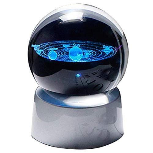 Planet Crystal Ball System Solar Modelo Global Base de Vidrio Decoración del hogar Accesorios astronómicos Bola Decorativa-Tipo 1
