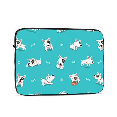 Laptop Sleeve Case 13 Inch Cartoon Character Bull Terrier Dog Laptop Sleeve/notebook Computer Pocket Case/tablet Briefcase Carrying Bag