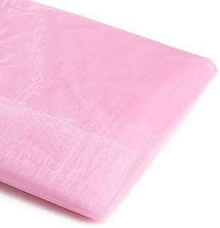 Koyal Wholesale 10-Yard Sheer Organza Fabric Bolt, 58-Inch, Light Pink
