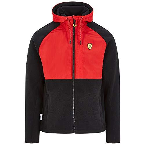 2020 Scuderia Ferrari F1 Herren Jacke Hoodie Gilet Softshell Offizielle Fanwear, Schwarz/Rot Fleecejacke, Mens (M) Chest 96-100cm