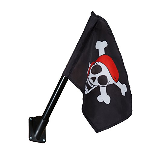 Gorilla Playsets 09-1014-P Pirate Flag Swing Set Accessory with Mounting Hardware, Black