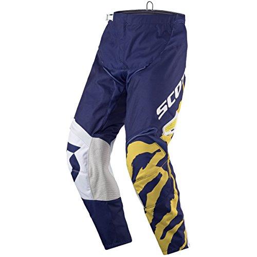 Scott 350 Race MX Motocross/DH Fahrrad Hose blau/weiß/gelb 2017: Größe: 34