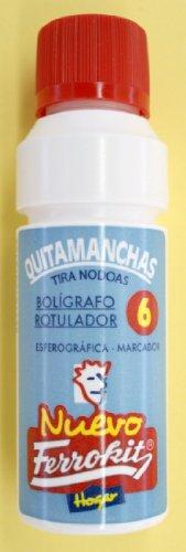 QUITA MANCHAS DE BOLIGRAFO ROTULADOR PARA TODO TIPO DE TEJIDOS 50 ML FERROKIT