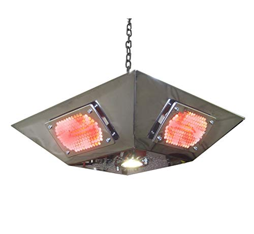 Leisure Heating Infra-red Pendant Gazebo Heater - 2kW Short-wave Infra-red with LED downlight