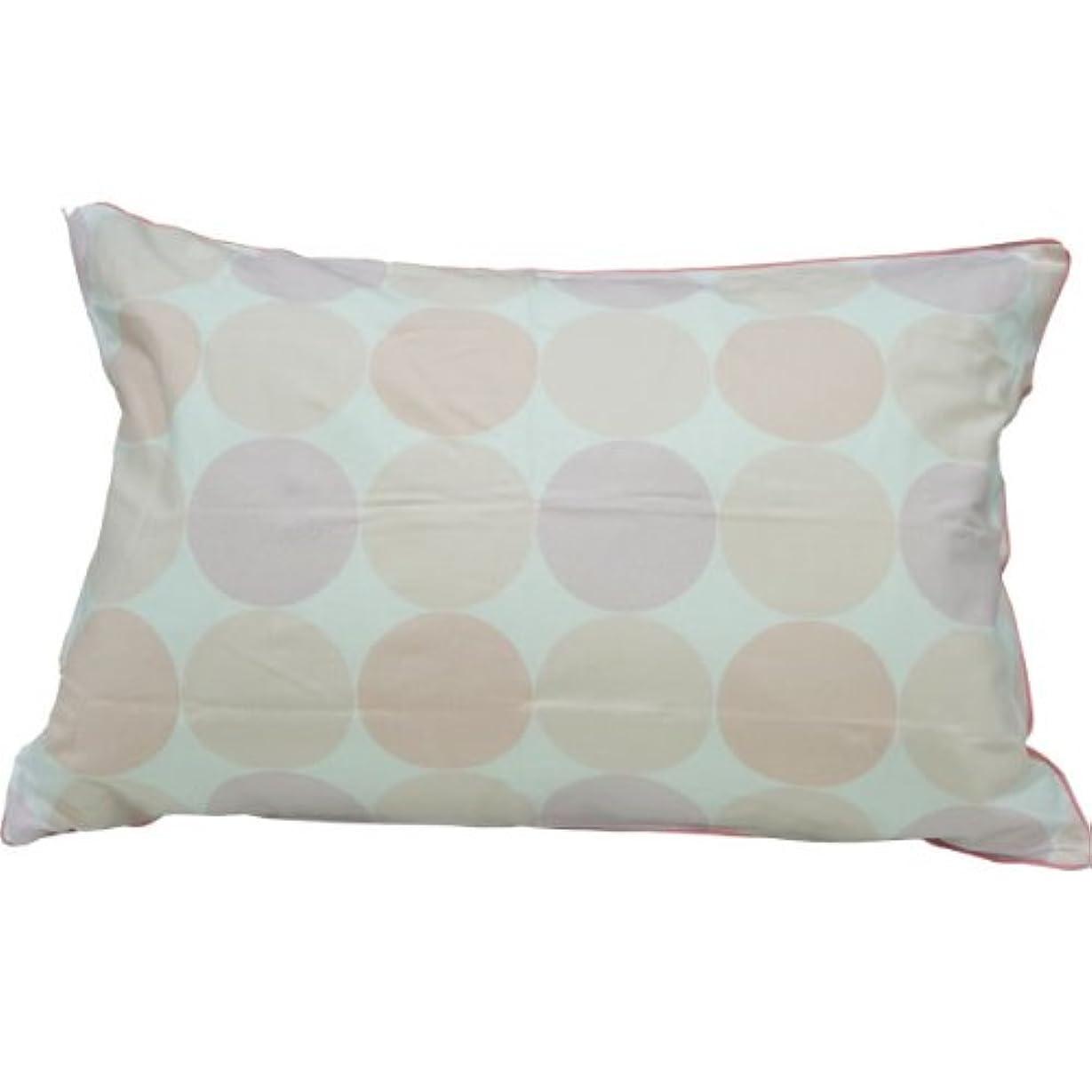 重力フォアタイプ詩人【枕カバー 43×63】 ドット柄 日本製 綿100% ピロケース ファスナータイプ (ピンク)