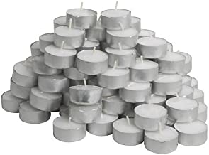Ikea 500.979.95 Glimma Unscented Tealights, 100-Pack