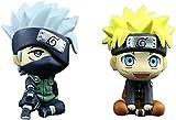 2 unids Naruto Figuras Versión Q Anime Modelo Doll 8cm PVC Toys Figuras Figuras Caracteres Naruto Modelo Modelo Estatuas de decoración 2pcs-2pcs
