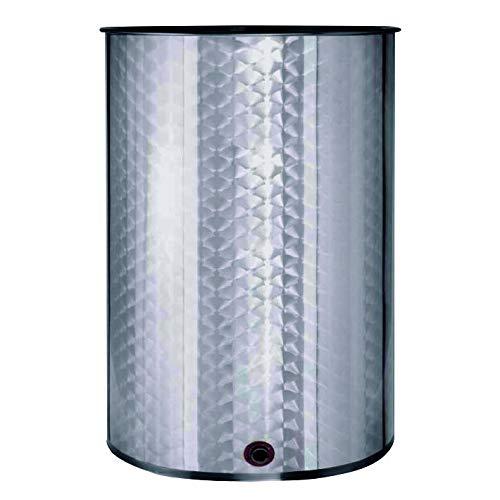 Deposito Barril de vino floreado INOX 304 cierre aceite 200L