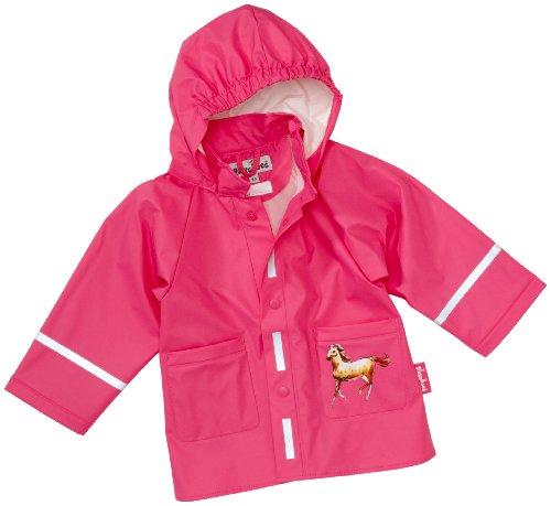Playshoes Baby - Mädchen Babybekleidung/ Regenbekleidung, Tierdruck Regen-Mantel Pferd 408585, Gr. 92, Pink (900 original)