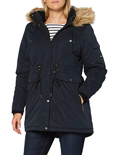 Superdry Womens NADARE Microfibre Parka Jacket, Eclipse Navy, M