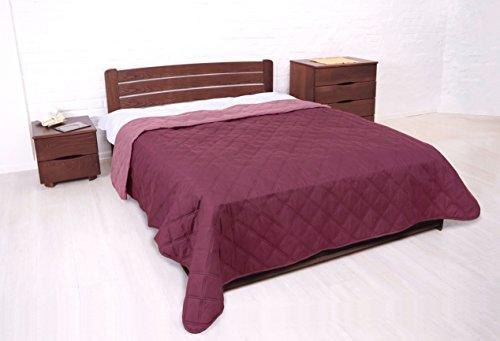 MB Warenhandel24 Tagesdecke XXL Allzweckdecke ca. 220x240 Patchwork Landhaus Sofa Bettüberwurf (Vintage Weinrot)
