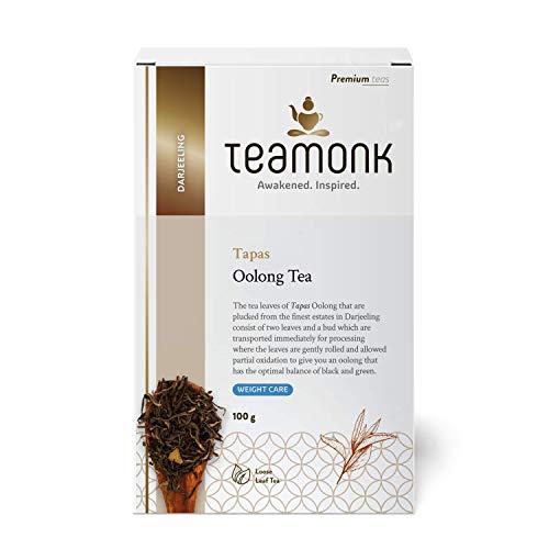 Teamonk Tapas Oolong Tea Loose Leaf (50 Cups) | Premium Oolong Tea | Weight Loss Tea | Slimming Tea | Pure Loose Leaf Tea | No Additives - 3.5oz