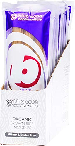King Soba - Organic 100% Brown Rice Noodles - 250g (Case of 12)