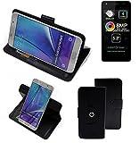 K-S-Trade® Case Schutz Hülle Für -Allview A9 Lite- Handyhülle Flipcase Smartphone Cover Handy Schutz Tasche Bookstyle Walletcase Schwarz (1x)