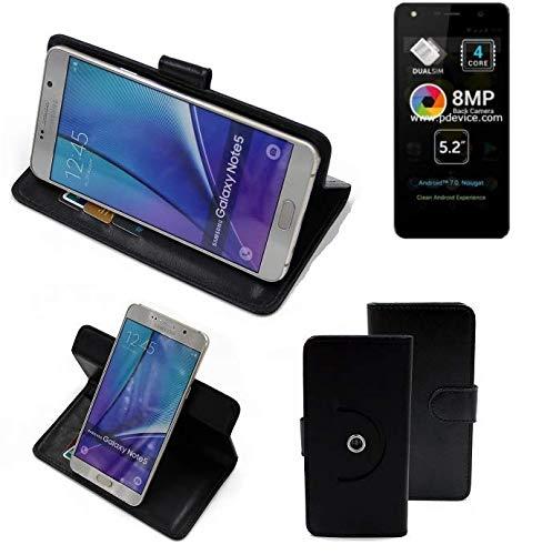 K-S-Trade® Case Schutz Hülle Für Allview A9 Lite Handyhülle Flipcase Smartphone Cover Handy Schutz Tasche Bookstyle Walletcase Schwarz (1x)