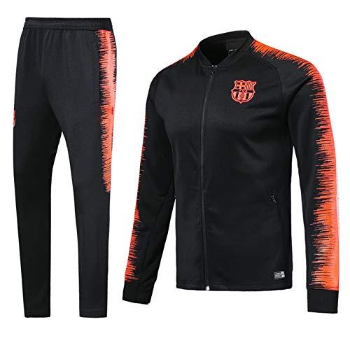 SSUU Bǎrcělǒnǎ Camiseta de fútbol de fútbol de fútbol Camiseta de Entrenamiento Equipo de Deporte, Tendencia Juvenil Negro cómodo Transpirable Lavable a Mano, Equipo de f S