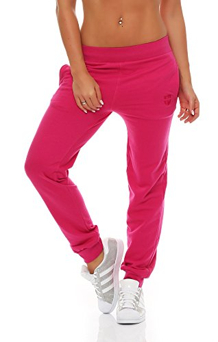 Gennadi Hoppe Damen Jogginghose Trainingshose Sweat Pants Sporthose Fitness Hose,pink,Large