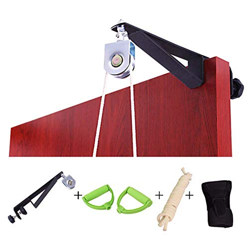 Bycloth Schmerzlinderung Obere Extremität Schultergelenk Rehabilitation Training Kit Übung Tür hängend Pulley Trainer Home Use-Klammer-Support,a