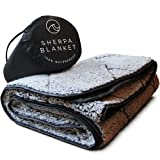 Oceas Outdoor Waterproof Camping Blanket - Thick Sherpa Fleece Outdoor Blanket Waterproof - Perfect Large Packable Camping Blankets and Throws for Cold Weather, Outdoors, Picnic & Stadium Use