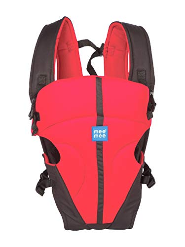 Mee Mee Light Weight Baby Carrier (Lightweight Breathable, Dark Red)