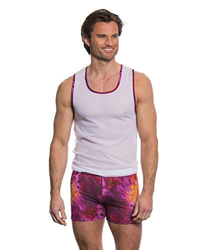 Kiniki Amalfi Purple Tan Through Sonnendurchlässiger Weste Tops Herren Badebekleidung