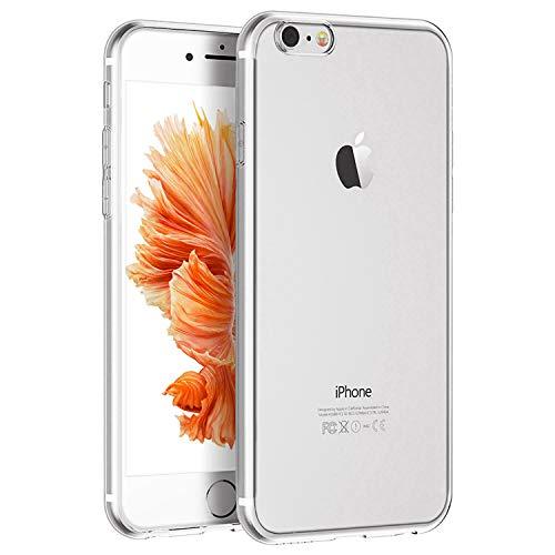 Whew Hülle Kompatibel iPhone SE 2020, Schutzhülle Kompatibel iPhone 8/7,Ultra Dünn Transparent Silikon TPU Handyhülle,Qualität Stoßdämpfend, Staubschutz, Anti-Kratz Hülle Cover für iPhone SE 2020/8/7