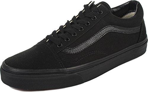 Vans Unisex Old Skool Classic Skate Shoes, Black/Black Mono, 10 Women/8.5 Men