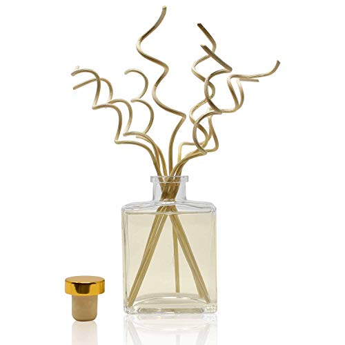 HOUZZ Interior Reed Diffuser Sticks White Tea & Pear Scented Oil Reed Diffuser with Decorative Sticks – White Tea, Bartlett Pear & Bergamot – All Natural Essential Oil Blend – No Sulfates or Parabens