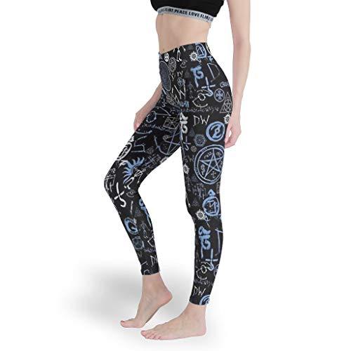 DOGCATPIG Pantalones de yoga de Spandex de algodón suave de las mujeres Logo Símbolo de moda para mujer legging pantalones cortos para deportes blanco 4xl