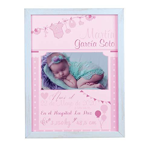 Certificado de nacimiento regalo bebe recién nacido con foto personalizado regalo para padres