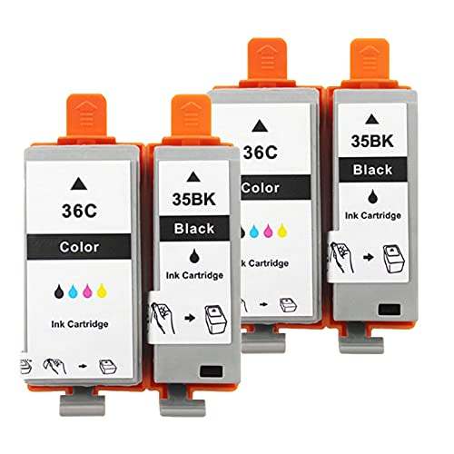 Cartuchos De Tinta Remanufacturados Para PGI-35BK CLI-36C, Reemplazo Compatible Con La Impresora IP100 IP110 De Para Canon, Traje Negro Y Color Package 2