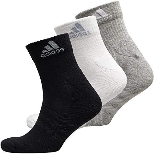 adidas Adults Unisex 3 stripe Performance Cushioned 3 Pack Ankle socks EU 47-50 US 12 - 14 1/2 UK 11 1/2 - 14 AH9872