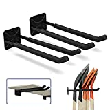 Stormann Garage Hooks Wall Mounted Heavy Duty Hanger Tool Organizer Rack Storage Utility Hooks for Tire Rack,Snow Board,Ladders,Chairs,Strollers,Power Tools,Garden Tools (2 Pack)