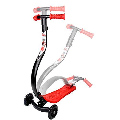 SZNWJ El Columpio Plegable Vespa Scooters Kick Wiggle Self propulsar Speeder Deportes al Aire Libre con Manillar Regulable en Altura for los Muchachos/de la Muchacha/de los niños LED Light-Up Rued