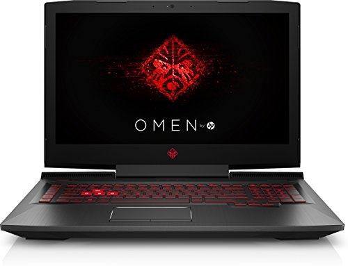 OMEN by HP 17-an104ng (17,3 Zoll/Full HD IPS 120Hz) Gaming Laptop (Intel Core i7-8750H, 16 GB RAM, 1TB HDD, 256GB SSD, Nvidia GeForce GTX 1060 6GB G-SYNC, Windows 10 Home) schwarz / rot