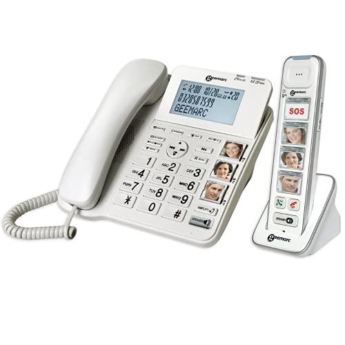 Geemarc - Amplificador Combi Photo 295 con contestador para Senior + combinado inalámbrico amplificado COMBI-PHOTO 295 - Fotofono para personas con deficiencias auditivas y visuales