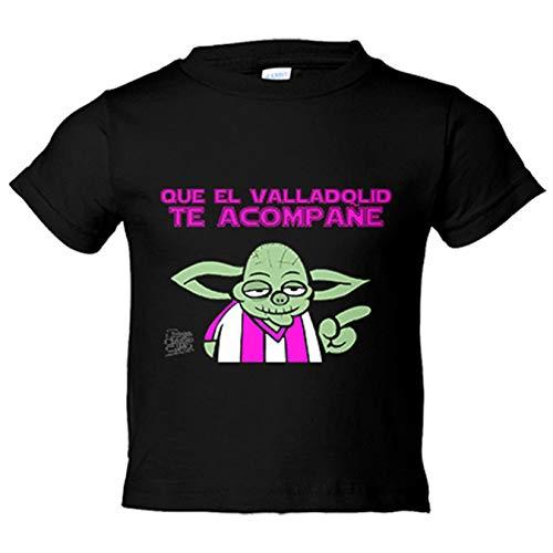 Camiseta niño que el Valladolid te acompañe - Negro, 12-18 meses