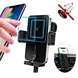 UMISKY Wireless Charger Auto,15W Handyhalterung Auto Induktion 2 in 1 Drehbar Auto-Lüftungsschlitz-Halterung Qi Schnellladung, Kompatibel mit iPhone 12/XS/XR/11/11 pro Samsung S20, QI Handys