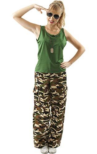 ORION COSTUMES Costume de déguisement kaki de camouflage soldat femme pour femmes