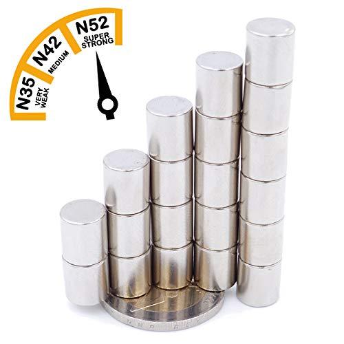 Brudazon | 20 mini schijfmagneten 9 x 9 mm | N52 dikke stand - neodymium magneten ultrasterk | powermagneet voor modelbouw, foto, whiteboard, prikbord, koelkast, knutselen | magneetschijf extra sterk