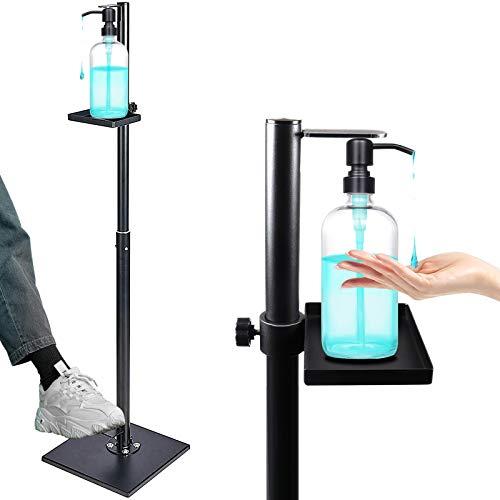 Dispensador de jabón para manos con soporte para botella ajustable, seguro y duradero, de metal pesado, sin estar totalmente...