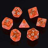 Fmingdou 7-Dice Sided D4 D6 D8 D10 D12 D20 Magic-The-Gathering D&D RPG Poly Game Set Red