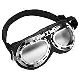 Cubaby Upgrade Harley Dog Goggles,Adjustable Pet Sunglasses,Windproof/UV Protection Dog Glasses for Medium and Large Dog (Transparent)