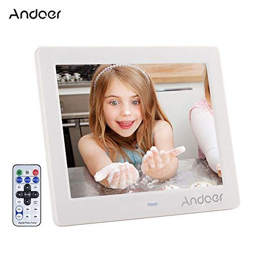 Andoer Digitaler Bilderrahmen, 6,8cm (8Zoll), MP4-,MP3-,Videoplayer, mit Fernbedienung, schönes Weihnachtsgeschenk