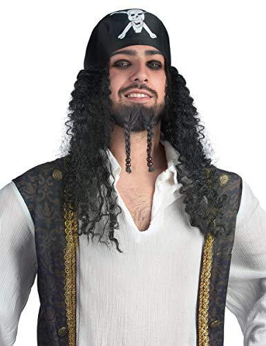 DEGUISE TOI - Perruque Bandana Pirate Adulte - Taille Unique
