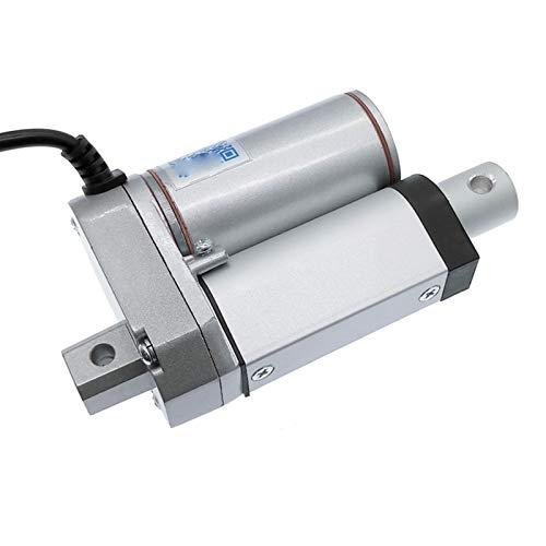 Auart Zyilei- Motor Gleichstrom Linearaktuator Elektromotor, 24V Fensteröffner 100N-1500N, 12V DC 50mm 30mm 20mm Hub, Verschleißfest (Speed(RPM) : 24V 800N 18mms, Voltage(V) : Stroke 50mm)