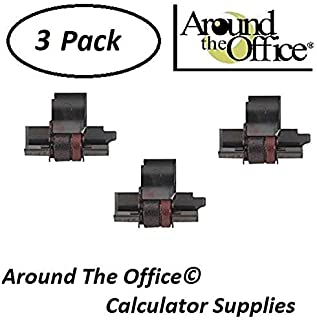 Around The Office Compatible Package of 3 Individually Sealed Ink Rolls Replacement for Sharp EL-1801-V Calculator